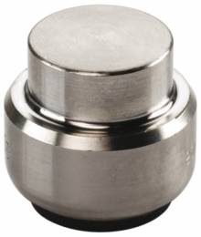 Produktbild: Tectite Steck-Fitting Kappe Edelstahl 15 mm