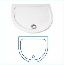 Produktbild: HSK  Halbkreis Schürze für Acryl-Duschwanne 96 x 82 cm  Höhe
