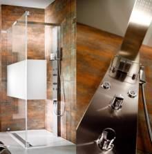 Produktbild: HSK Duschpaneel Lavida mit Traverse 2000 x 210 x 75 mm edelstahl-look Abverkauf Sonderpreis