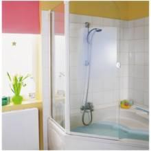 Produktbild: Favorit Badewannenaufsatz 1-teilig 80 cm Alu silber-matt