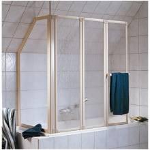 Produktbild: Prima Badewannenaufsatz 3-teilig inkl. Handtuchhalter Alu silber-matt