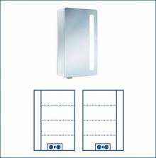 Produktbild: ASP Softcube Alu-Spiegelschrank 45 x 75 x 17 cm Alu silber-matt