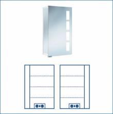 Produktbild: ASP 500 Alu-Spiegelschrank 45 x 75 x 17 cm Alu silber-matt