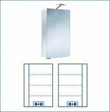 Produktbild: ASP 300 Alu-Spiegelschrank 45 x 75 x 17 cm Alu silber-matt