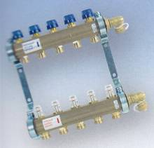 Produktbild: Heizkreisverteiler 6- fach mit Durchflussmengenbegrenzer