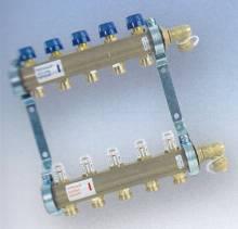 Produktbild: Heizkreisverteiler 9- fach mit Durchflussmengenbegrenzer