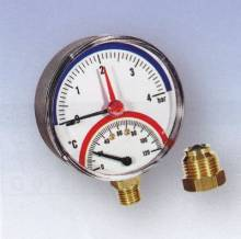 "Produktbild: Thermo-Manometer TMAX  4 1/2"" axial"