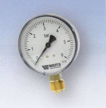 "Produktbild: RF-Manometer 50 radial MDR 50/10 1/4"" 0 - 10 bar"