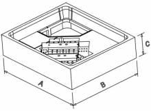 Produktbild: Brausewannenträger für viereck   800x800x45mm