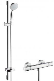 Produktbild: CROMA 100 Combi Wandstangen-Set Vario Ecostat Comfort, 900 mm, chrom