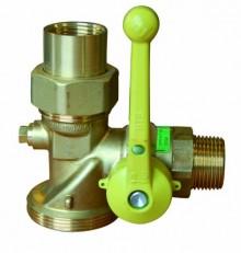 "Produktbild: Gas-Eckkugelhahn f. Einrohrzähler DN 25, R 1""xRp 1"", abschließbar"