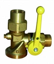 """Produktbild: Gas-Eckkugelhahn f. Einrohrzähler abschlb. m. GS DN 25 R 1""""xRp 1"""" 2,5 m3/h"""
