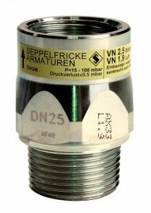 Produktbild: Gasströmungswächter Typ K AG x IG DN 25, 4,0 m3/h