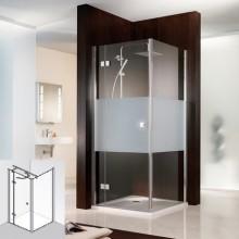 Produktbild: HSK Duschkabine Atelier Drehtür Pendelbar (für Kombination mit Seitenwand), Echtglas, CHROM-OPTIK, 75