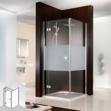 Produktbild: HSK Duschkabine Atelier Drehtür (für Kombination mit Seitenwand), Echtglas, CHROM-OPTIK, 75