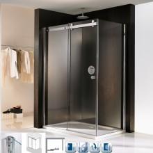 Produktbild: HSK Duschkabine Atelier Gleittür 2-teilig mit Seitenwand, Echtglas, CHROM-OPTIK, 120