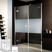 Produktbild: HSK Duschkabine Atelier Raumnische Drehtür Pendelbar 3-teilig, Echtglas, CHROM-OPTIK, 140