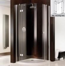 Produktbild: HSK Duschkabine Atelier Runddusche 3-teilig, Echtglas, CHROM-OPTIK, Breite 80 x Tiefe 80