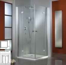 Produktbild: HSK Duschkabine Premium Classic Eckeinstieg, 4-teilig, Echtglas, SONDERFARBEN - L80 x R80