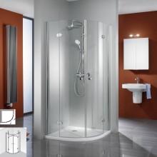 Produktbild: HSK Duschkabine Premium Classic Runddusche, 4-teilig, Echtglas, SONDERFARBEN, Radius 500 - Breite 80 x Tiefe 80