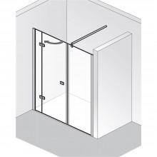 Produktbild: HSK Duschkabine Premium Softcube Drehtür Raumnische, Echtglas, Chromoptik, Breite 140 - Türseite Links