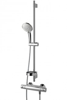 Produktbild: IDEALRAIN Kombi-Wandstangen-Set L3 900 mm, CeraTherm 50 Brausetherm., chrom
