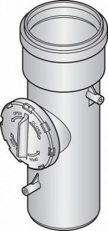 Produktbild: JUNKERS-Luft-/Abgaszubehör, KunststoffZwischenstück m. Prüföffnung, AZB618