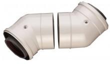 Produktbild: JU Abgaszubehör AZB 608/1, 2 Stück Doppelrohrbögen 45 Gr, d:80/125mm