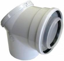 Produktbild: JU Abgaszubehör AZB 938  Doppelrohrbogen Prüföffnung, d:80/125 mm
