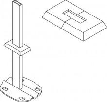 Produktbild: KERMI Kunststoffrosette f. Rohbodenmont. weiß (RAL 9016), 30 x 10 mm