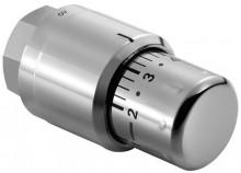 Produktbild: KERMI Thermostatkopf Edelstahl Optik