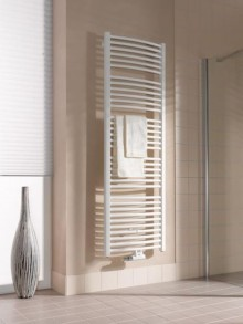 Produktbild: Kermi Basic-50 R Badheizkörper, Badheizkörper-R BH 1172 mm 450 x 51 mm, weiß gebogene Form