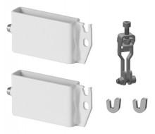 Produktbild: Kermi Trägerset f. Standkonsolenf. 60x10  Typ10-11,wei,Bef. Lasche oben+unten,WA10