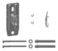 Produktbild: Kermi Wandkonsolen-Set variabel  WA 60-100 mm, weiß