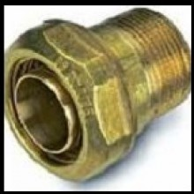 """Produktbild: FLEXALEN Klemmkupplung AG, Messing DN 12, 16 x 2.2 mm, 1/2"""""""