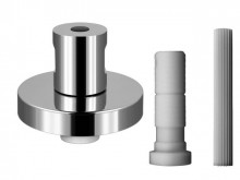 Produktbild: QUICKTURN Fertigmontageset zu UP-Ventil 65-150 mm, Messing massiv, verchromt