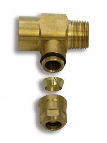 "Produktbild: ROTH CC Compact Unterverteiler 1fach 50 mm, 1 x 1/2""IG, 1 x 1/2""AG"