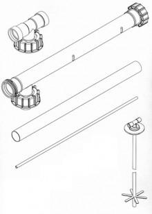 Produktbild: ROTH Füllsystem Füllstar 12 Erweiterung Reihe RS 780 mm, für DWT 750/1000/1500