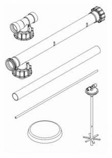 Produktbild: ROTH Füllsystem Füllstar 12 Erweiterung RS 840 mm, f. KWT-C 750, KWT-R 1000/1500