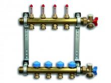 Produktbild: ROTH Heizkreisverteiler, Messing HK 2, 250 mm, mit Durchflussanz., absp.