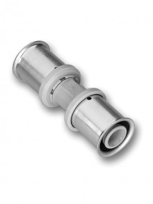 Produktbild: ROTH Kunststoff PPSU Kupplung   17 x 17  mm, inkl.  2 Presshülsen