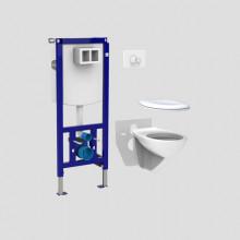 Produktbild: SANIT WC-Pack INEO PLUS komplett Bauhöhe 1120 (WC,WC-Sitz,Betätigung,Schallschutzmatte)