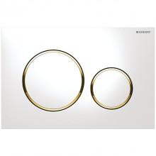 Produktbild: SIGMA20 Neu Betätigungsplatte 2-Mengen-Spülung, weiß/gold