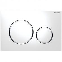 Produktbild: SIGMA20 Neu Betätigungsplatte 2-Mengen-Spülung, weiß/hochglanz-chrom