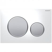 Produktbild: SIGMA20 Neu Betätigungsplatte 2-Mengen-Spülung, weiß/seidengl.-chrom