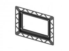 Produktbild: TECE WC-Einbaurahmen für flächenbündige Montage, schwarz