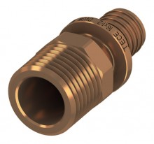 "Produktbild: TECEflex Übergangsnippel ohne Druckhülse 16 mm x 1/2"" AG, Rotguss"