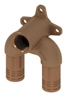 """Produktbild: TECElogo Rotguss Doppelwandscheibe Universalanschluss, 20 mm x 1/2"""" x 20"""