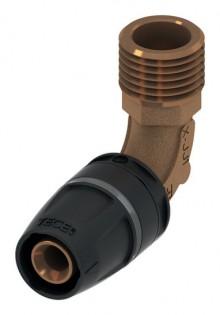 "Produktbild: TECElogo Rotguss Winkelübergangsnippel 16 mm x 1/2"" AG"