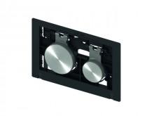 Produktbild: TECEloop Betätigungseinheit für WC-Betätigungspl., Tasten mattchrom